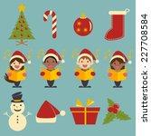 Christmas Icons  Vector...