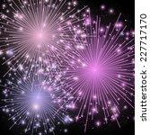 Shiny Fireworks On Dark...