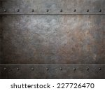 Small photo of grunge metal with rivets background