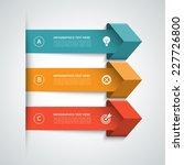 modern arrow infographics... | Shutterstock .eps vector #227726800