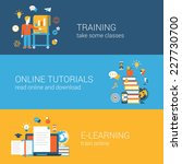 flat education  training ... | Shutterstock .eps vector #227730700