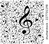music notes background | Shutterstock . vector #227731198