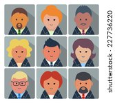 set of square avatar icons with ... | Shutterstock .eps vector #227736220