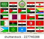 arab world flags | Shutterstock .eps vector #227740288