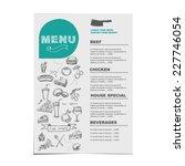 restaurant cafe menu  template... | Shutterstock .eps vector #227746054