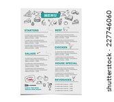 restaurant cafe menu  template... | Shutterstock .eps vector #227746060