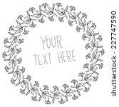 round vector floral frame.  | Shutterstock .eps vector #227747590