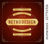 vintage label template... | Shutterstock .eps vector #227751526