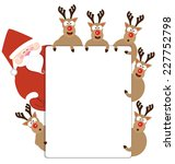 Santa Claus And Reindeer...