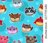 seamless pattern with cute... | Shutterstock .eps vector #227755180