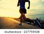 runner athlete running at... | Shutterstock . vector #227755438