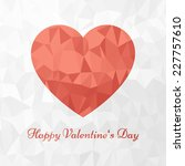 red heart and happy valentine's ...   Shutterstock .eps vector #227757610