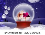 gift box and hearts   | Shutterstock . vector #227760436