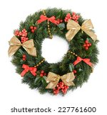christmas decorative wreath... | Shutterstock . vector #227761600