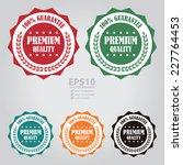vector   colorful premium... | Shutterstock .eps vector #227764453