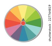 colorful wheel of fortune | Shutterstock .eps vector #227764819