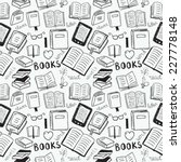 books doodles seamless... | Shutterstock .eps vector #227778148