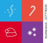 square christmas icons set.... | Shutterstock .eps vector #227778250