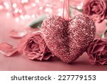 valentines day background with... | Shutterstock . vector #227779153