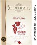 certificate   best wine | Shutterstock .eps vector #227785549