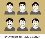set of male faces with... | Shutterstock .eps vector #227786824