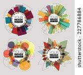 set of color round frames.... | Shutterstock .eps vector #227786884