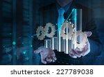 businessman hand working with... | Shutterstock . vector #227789038