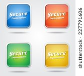 secure transaction colorful... | Shutterstock .eps vector #227791606