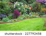Garden With Lawn In September