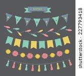 buntings set | Shutterstock .eps vector #227793418