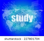 study words on digital touch... | Shutterstock . vector #227801704