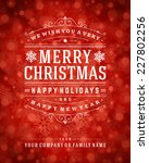 christmas greeting card light... | Shutterstock .eps vector #227802256