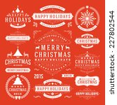 christmas decoration vector... | Shutterstock .eps vector #227802544