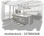 sketch of interior | Shutterstock .eps vector #227804368