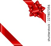 vector red ribbon with bow | Shutterstock .eps vector #227807356