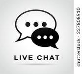 illustration of live chat... | Shutterstock .eps vector #227808910