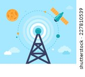 vector antenna tower and... | Shutterstock .eps vector #227810539