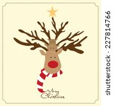 cute christmas design   deer...   Shutterstock .eps vector #227814766