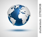 vector globe icon of the world. | Shutterstock .eps vector #227818438