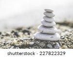 Stacked White Sea Stones