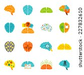 human brain thinking... | Shutterstock .eps vector #227832610