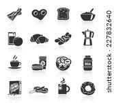 breakfast fresh food and drinks ...   Shutterstock .eps vector #227832640