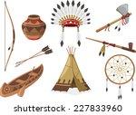 american indigenous indian... | Shutterstock .eps vector #227833960