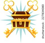 treasure chest coffin with... | Shutterstock .eps vector #227834080