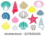 set of various colorful sea...   Shutterstock .eps vector #227834230