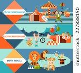 circus entertainment flat... | Shutterstock .eps vector #227838190