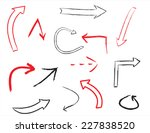 sketch arrow shapes.hand drawn  ... | Shutterstock .eps vector #227838520