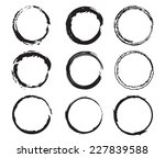 grunge circles set .stock... | Shutterstock .eps vector #227839588