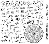 hand drawn doodle ampersands ... | Shutterstock .eps vector #227839750