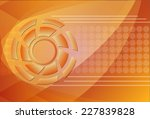 tech circle and arrow background | Shutterstock .eps vector #227839828